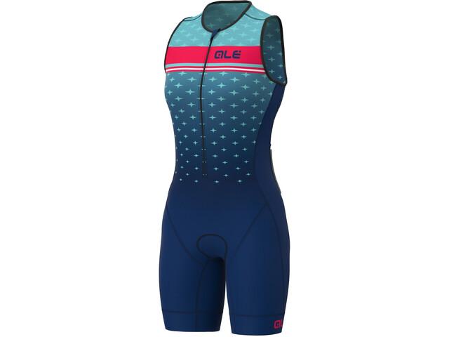 Alé Cycling Stars SL Triathlon Skinsuit Long Women, turquoise/blue